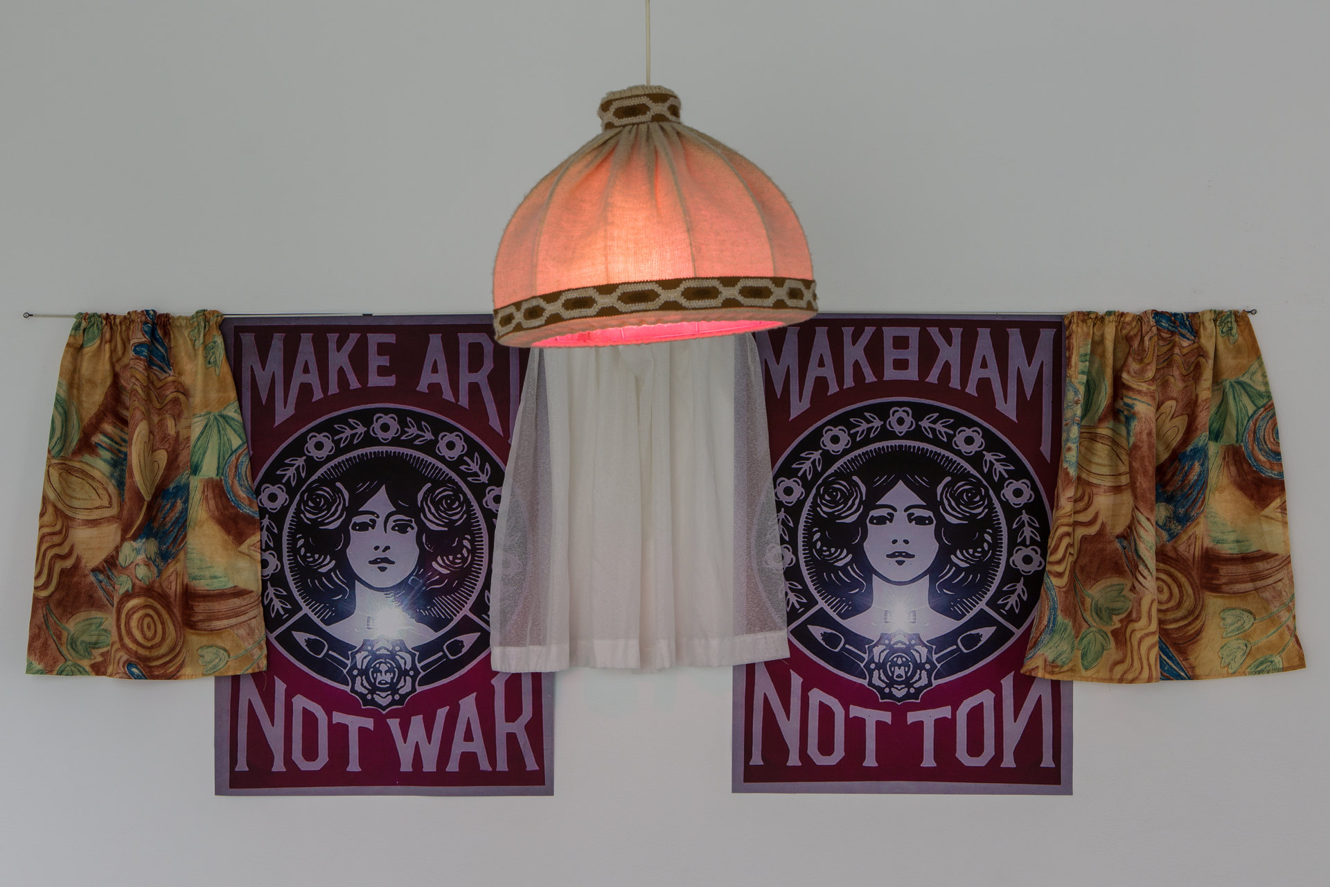Nancy Halt 'Make art not war, one to four' (Detail), 2018, No, No, No, No, 2018