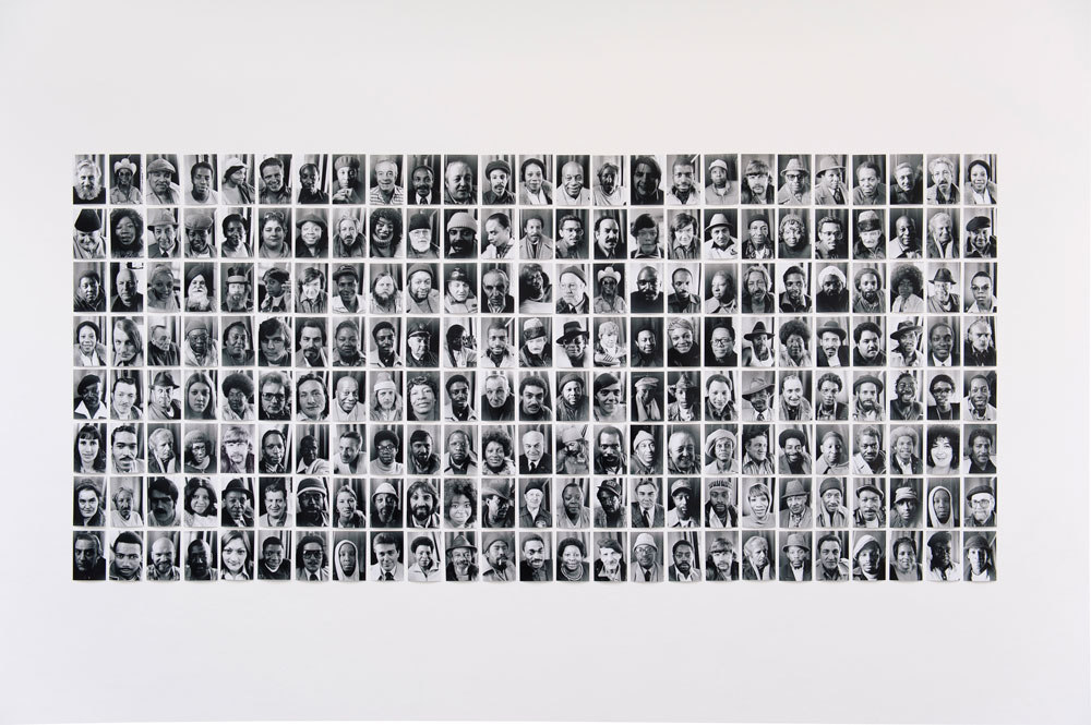 Sheldon Nadelman, Terminal Portraits, 1973–82, part of a larger work, photographic inkjet on paper, 290 x 126 cm, Cell Project Space