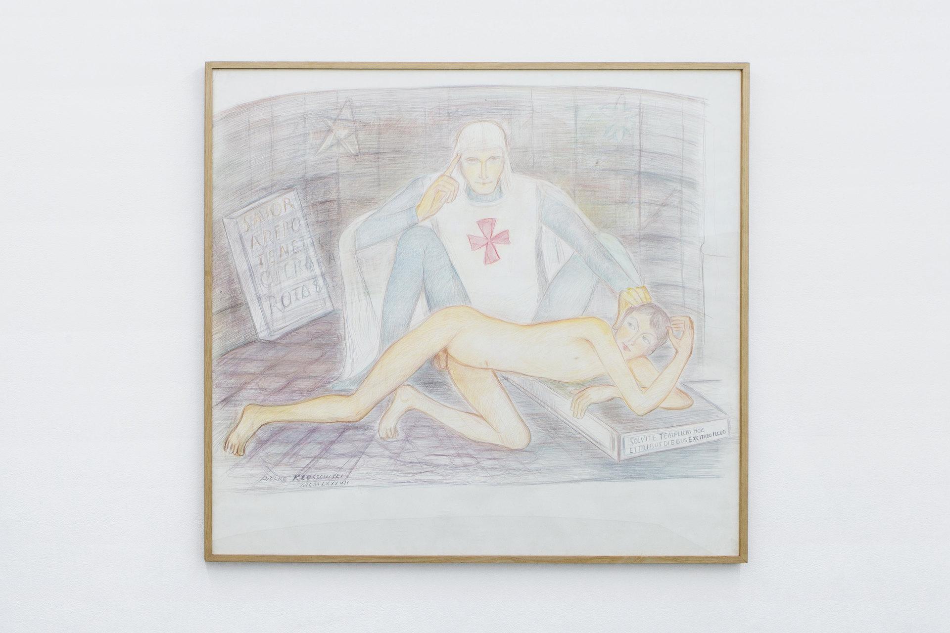 Pierre Klossowski, 'Malvoisie initiant le jeune Ogier', 1987, Perverts, 2017, Cell Project Space