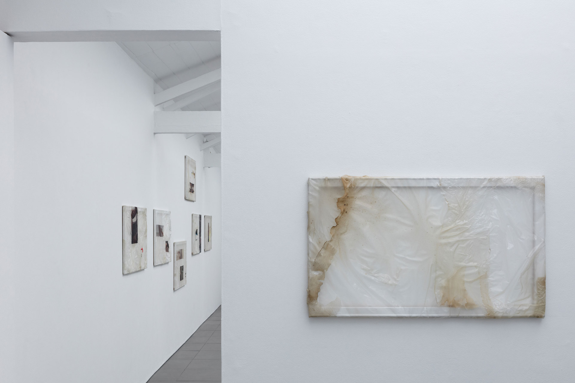 Aude Pariset, GREENHOUSES, 'Ménage Garbage Patch 2', Bioplastic, mold, wood, paint, 55 x 110cm, 2016, Cell Project Space