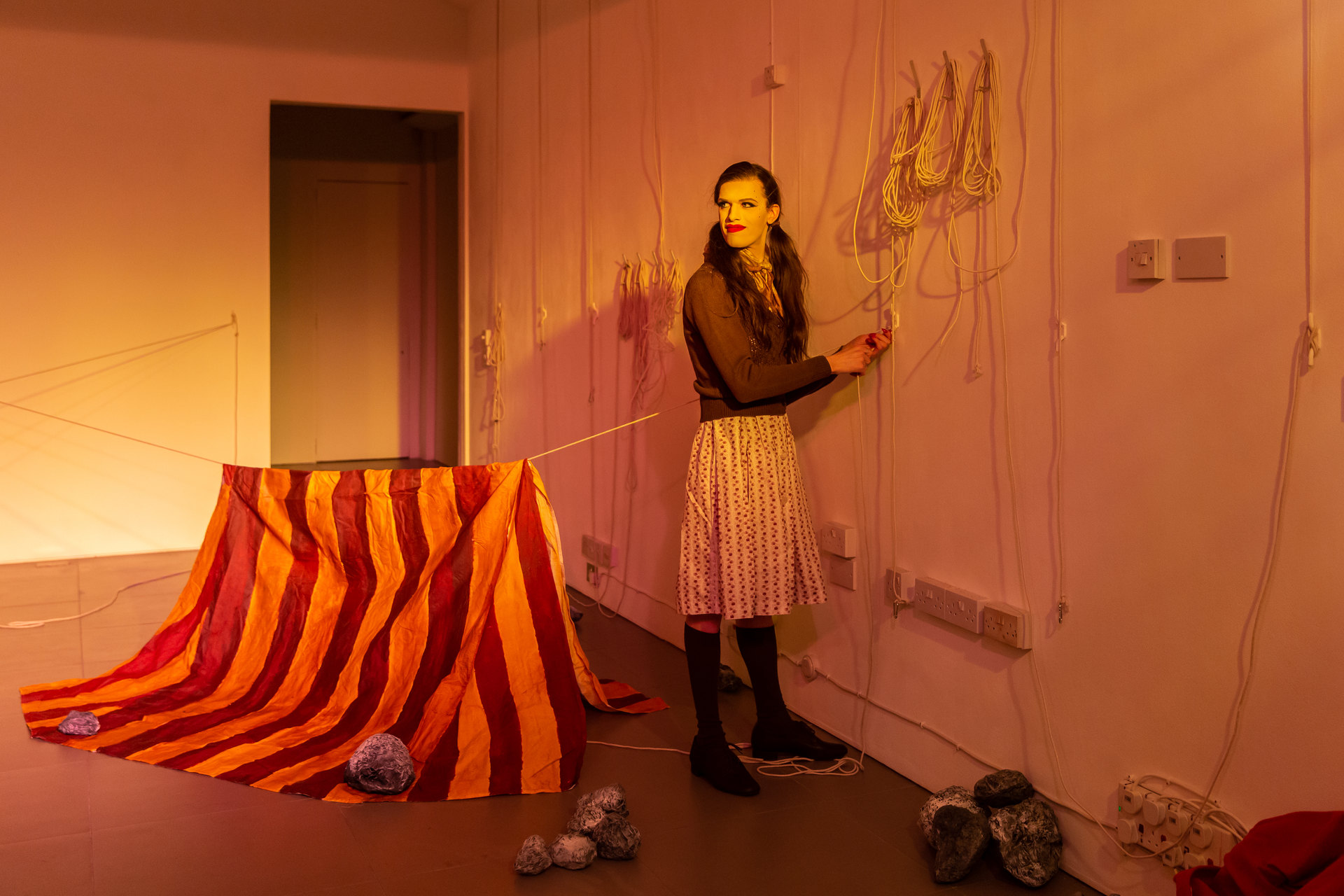 Alex Margo Arden and Caspar Heinemann, THE FARMYARD IS NOT A VIOLENT PLACE AND I LOOK EXACTLY LIKE JUDY GARLAND, 2019, Performance, Cell Project Space