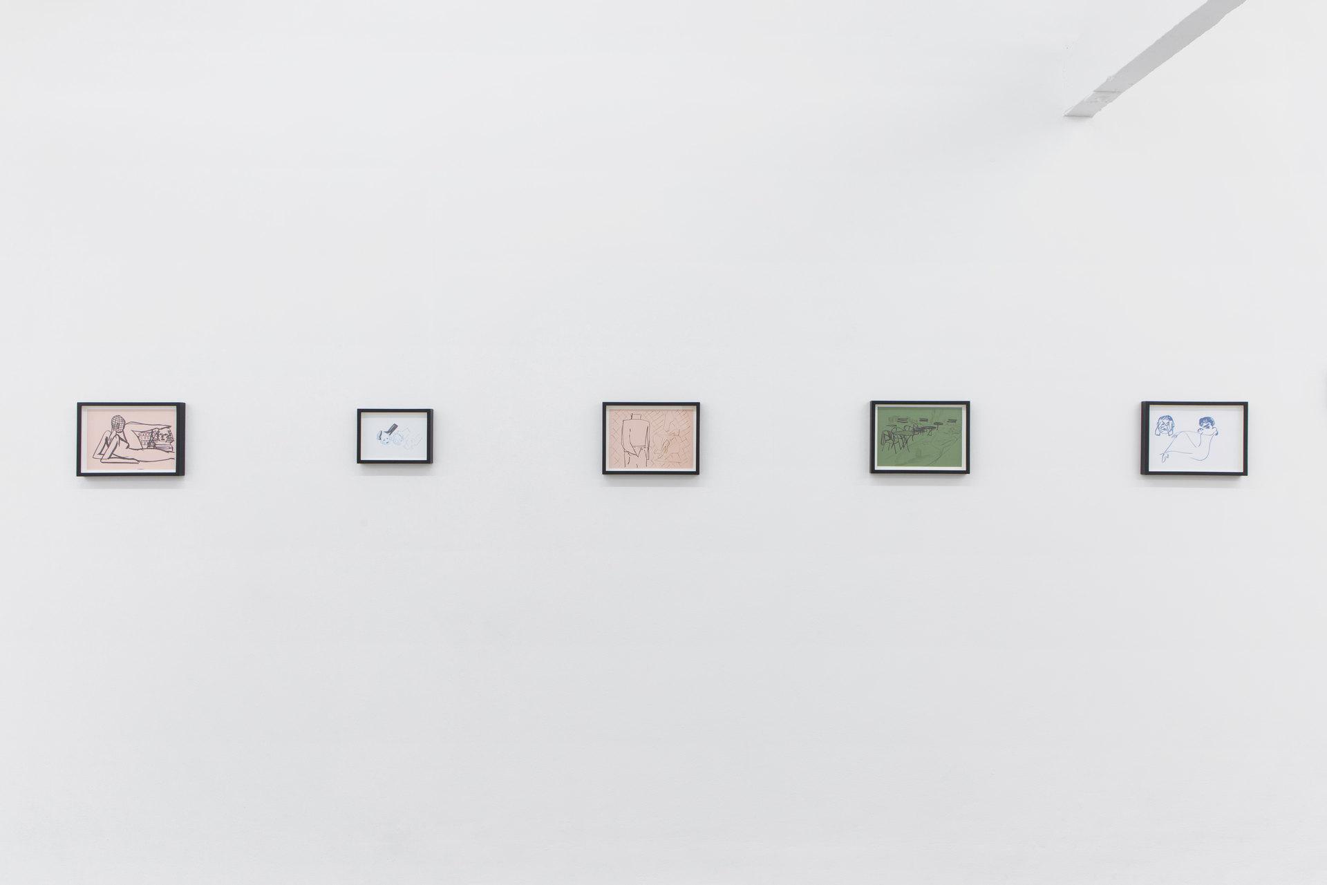 Zuzanna Bartoszek, 2017, Installation View, Perverts, Cell Project Space