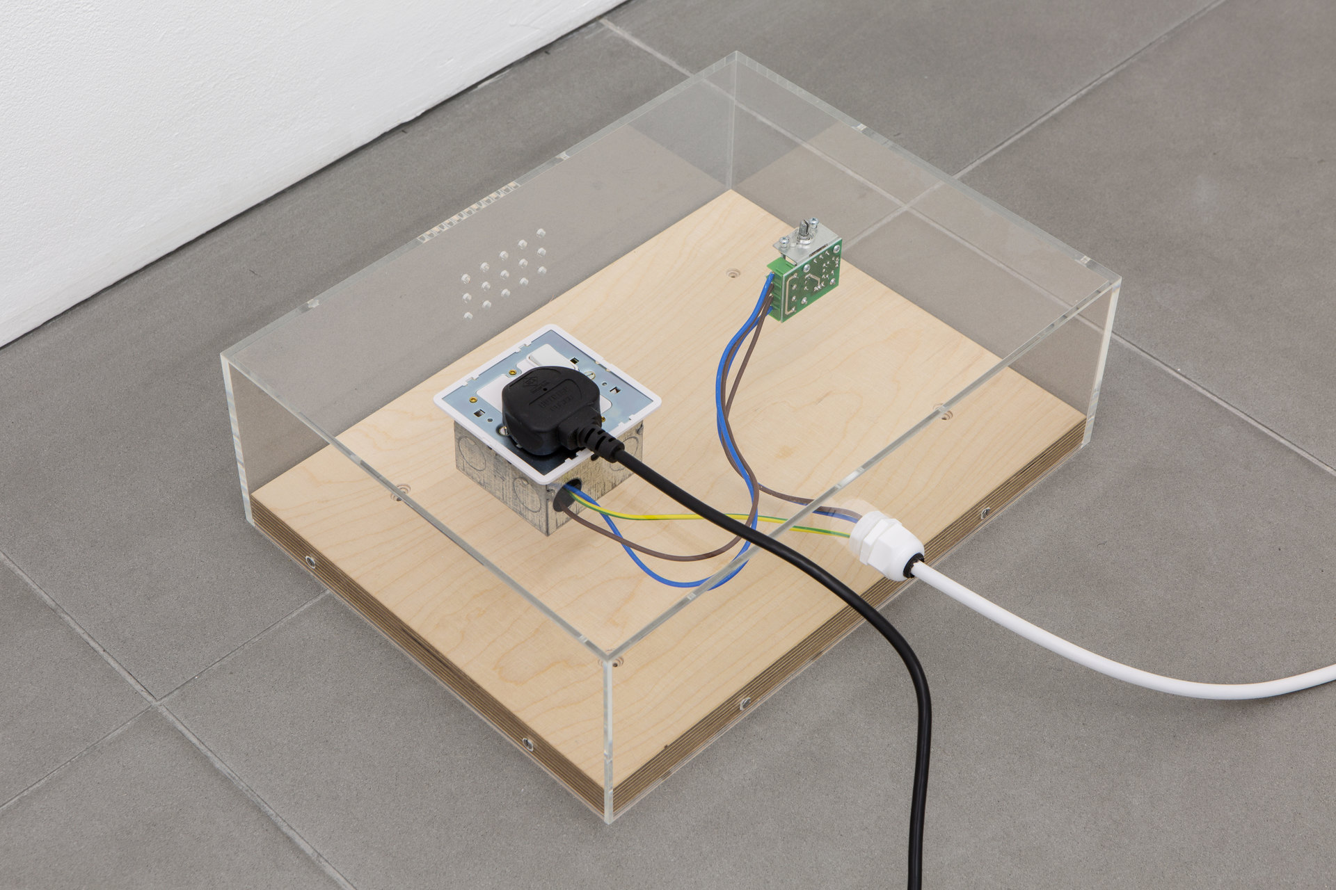 Patricia L. Boyd, 'Treatment', 2019, Fan, socket, motor speed control, electrical cable, cable gland, acrylic, plywood, fixings, Cell Project Space