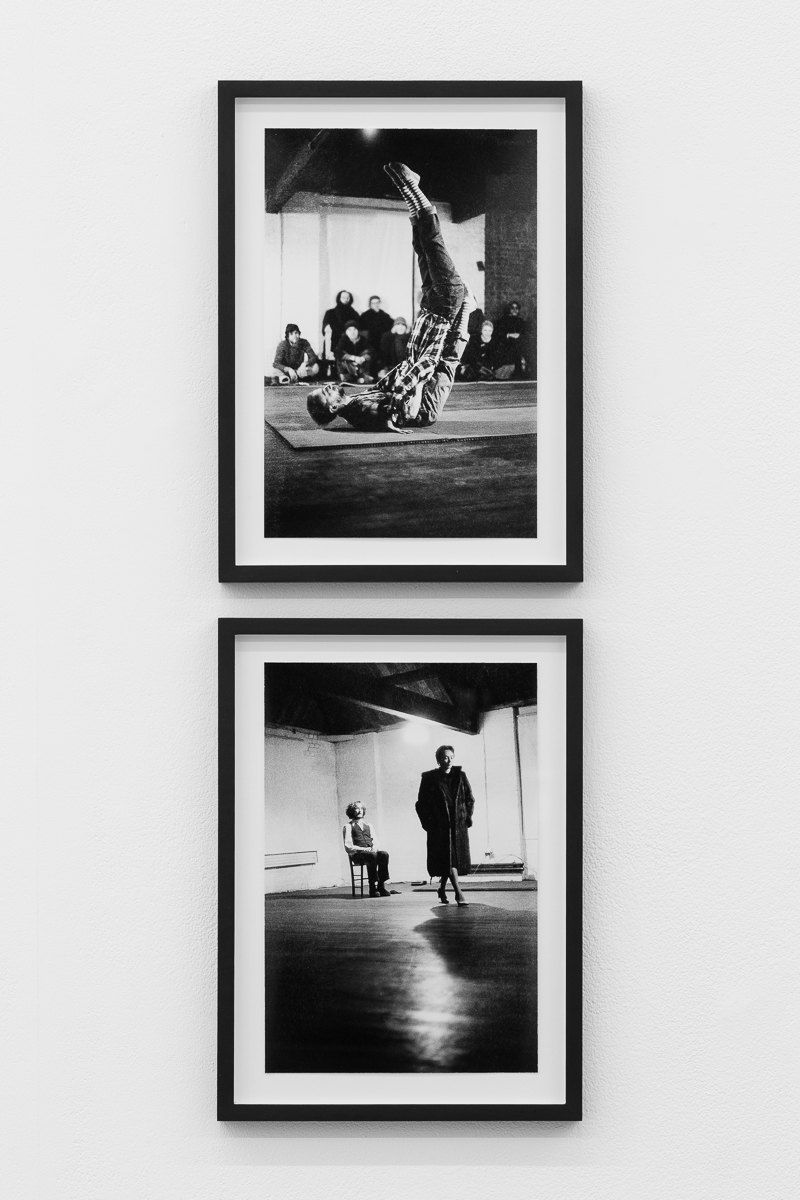 'Similar Instructions', 1976, Instructions by Maedée Duprès, X6 Dance Space, (from top) Fergus Early and Mary Prestidge; Jacky Lansley and Vincent Meehan, Framed c- print, photographs by Geoff White, 26cm x 35.3cm