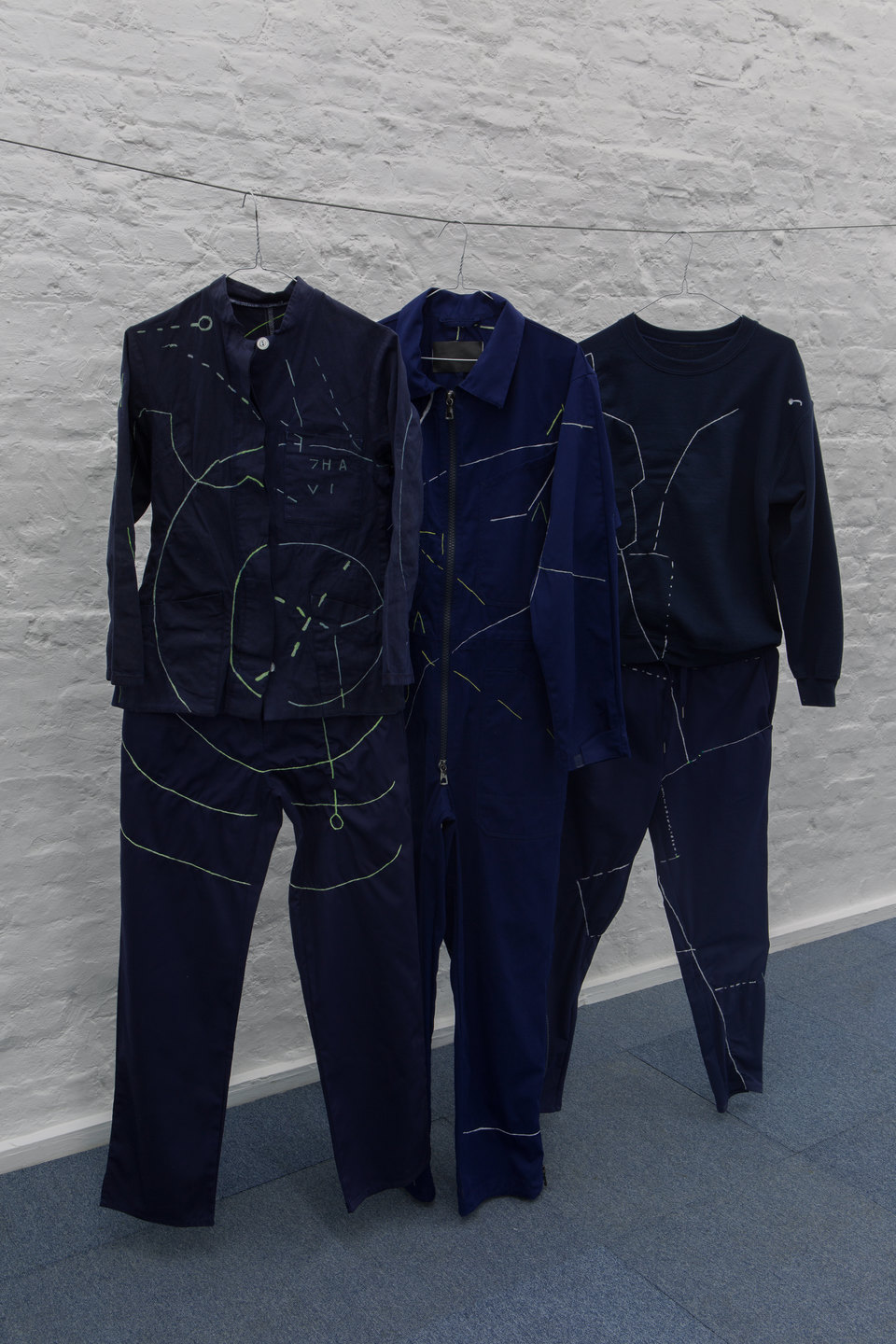 Angharad Williams and Mathis Gasser, 'Navigator Suits' (detail), 2018, Hergest:Nant, Cell Project Space
