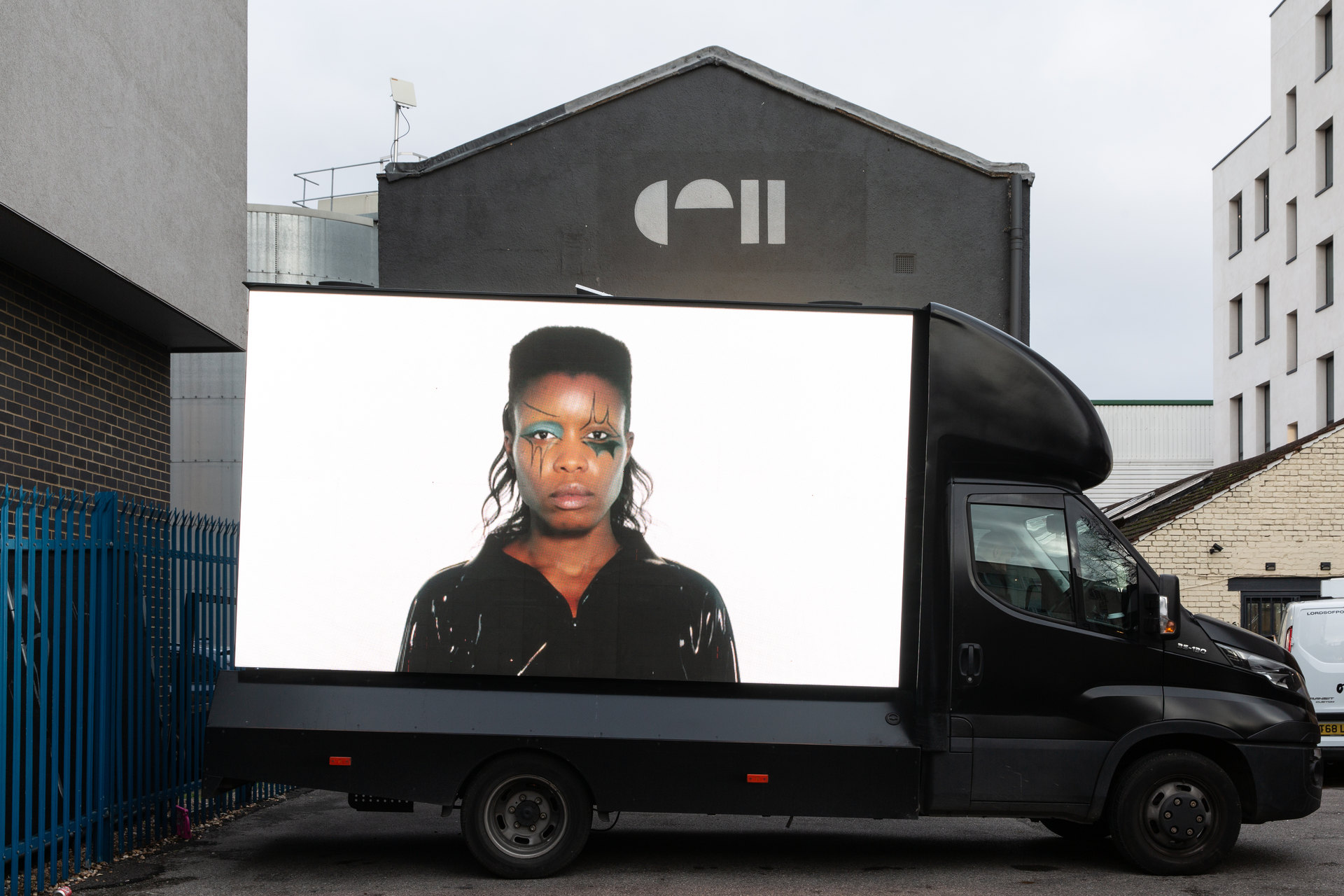 Nevermind (Screen Test 1), 2020, Cell Project Space Carpark, Cambridge Heath Road, London, E2 9DA