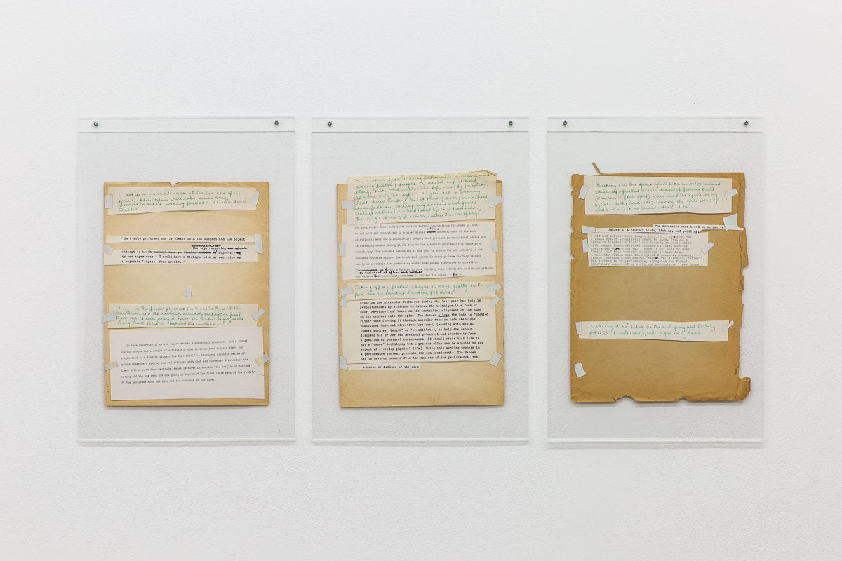 'Dance Object', 1977, Jacky Lansley, Cut and paste score, 22cm x 30cm, X6 Dance Space (1976-80): Liberation Notes, 2020, Cell Project Space