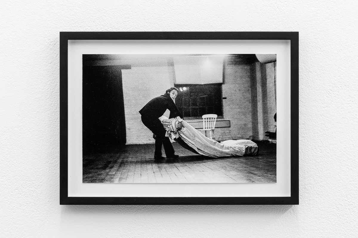 'Dance Object', 1977, Jacky Lansley, X6 Dance Space, Framed c-print, photograph by Geoff White, 35.5cm x 26cm, X6 Dance Space (1976-80): Liberation Notes, 2020, Cell Project Space