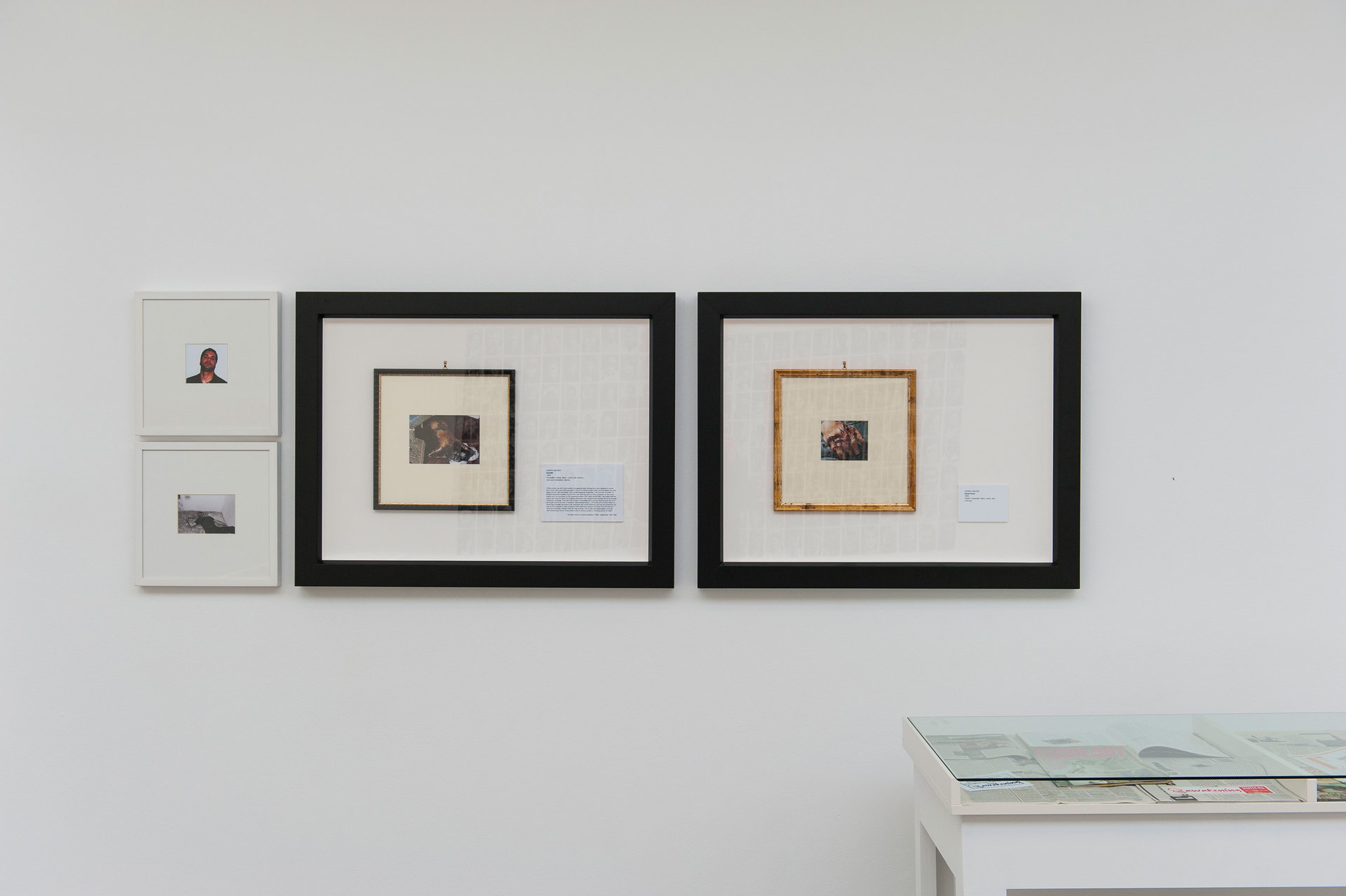 Eva and Franco Mattes, Darko Maver, (1988–99), Part of a larger work, framed archive of digital print on paper, (2x) 94 x 73 cm, (2x) 35.5 x 35.5 cm, Cell Project Space