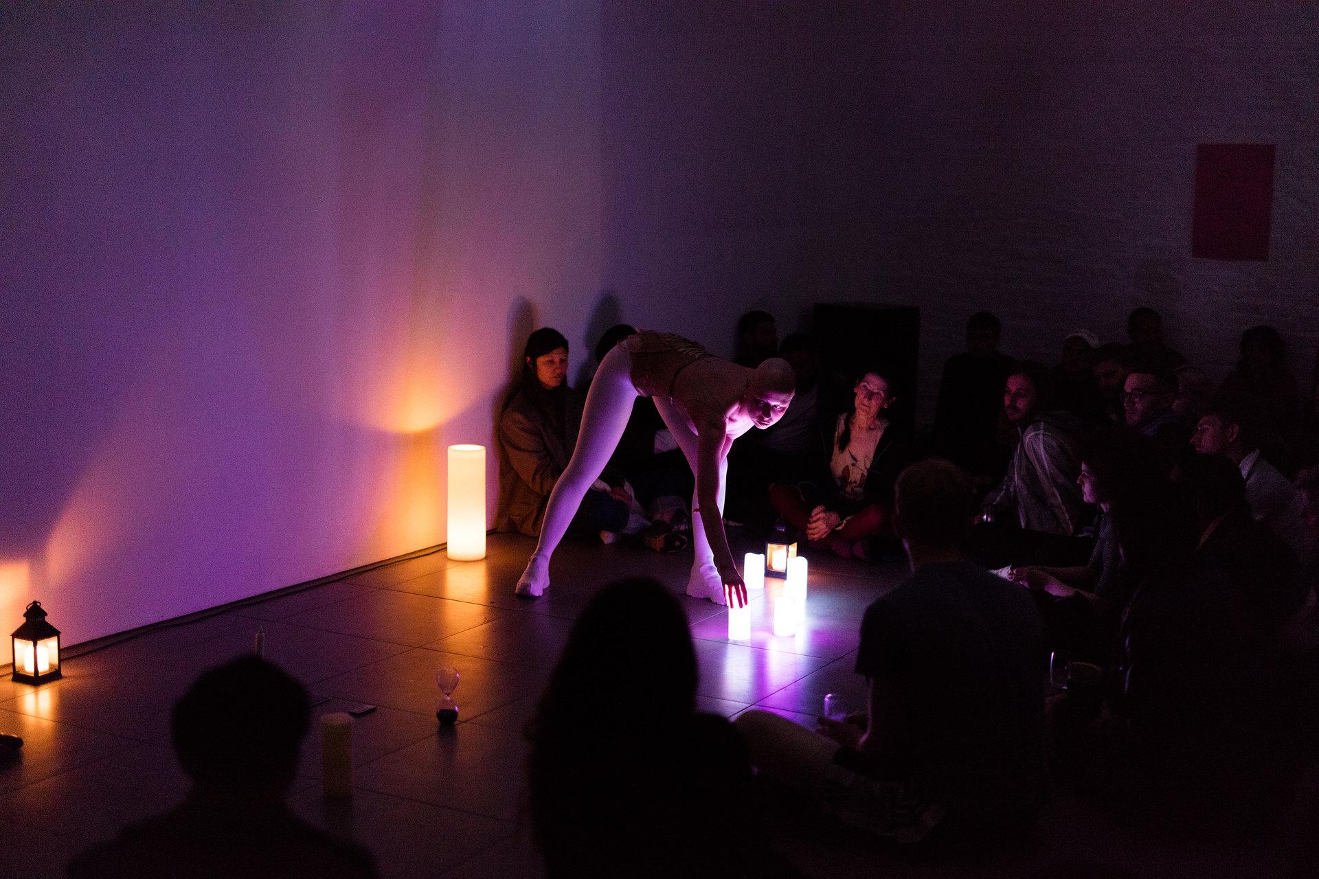 "Zuzanna Bartoszek, Meditation No. 3, 2017, part of ""Reading Pleasure"" event, Cell Project Space, 2017"