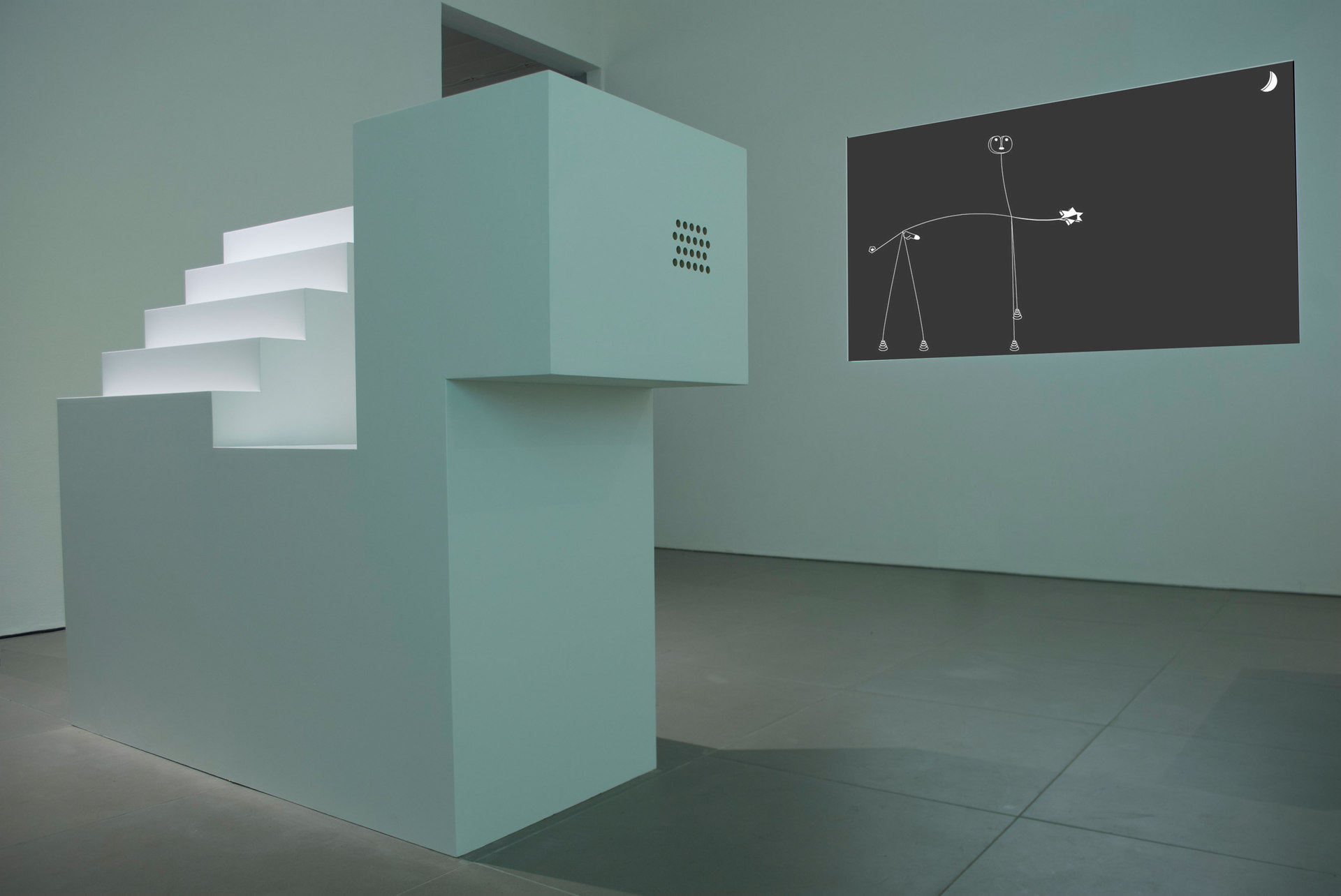 Angelo Plessas, Twilight Of The Idols, 'TwilightOfTheIdols.com and Mouse Pad Monument', 2012, mdf, digital projection, Cell Project Space