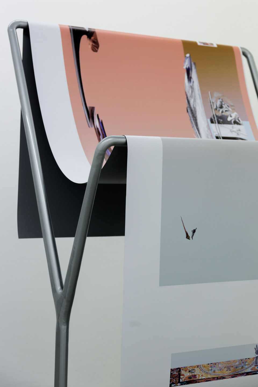 Alice Khalilova, Reboot Horizon, 'Siphonophore', [detail], 2014, steel, car paint, digital print on vinyl, Cell Project Space
