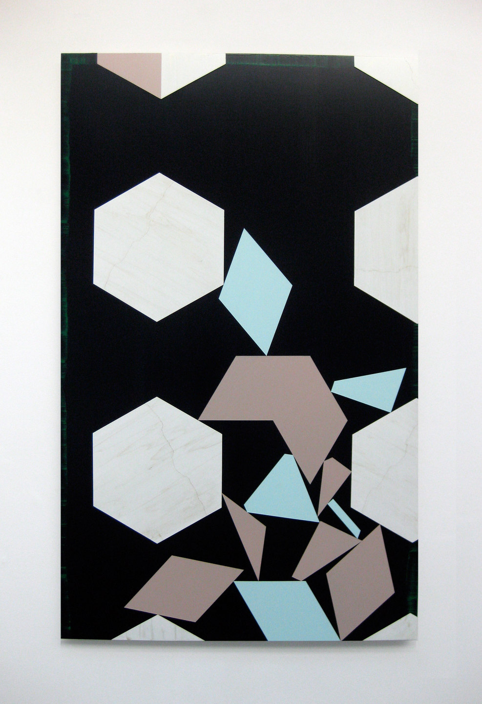 Andy Jackson, Set 1 (Bin), 2010, Acrylic and Metallic Acrylic on Board, (h.1610mm x w.996mm), Cell Project Space