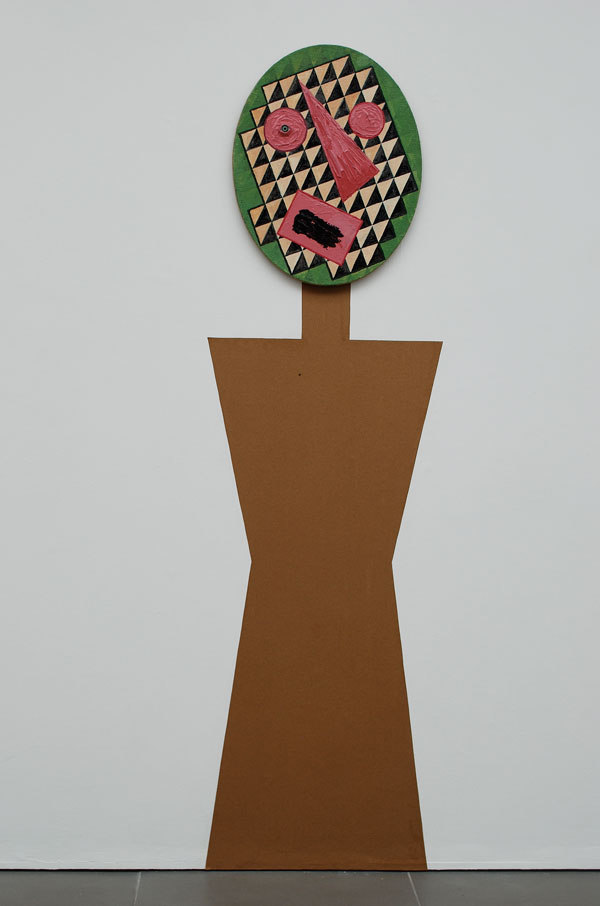 Jonathan Baldock, Basterdisation Portrait, (Green Eye), 2010, Acrylic on canvas with doll eye, (w.400mm x l.500mm), Cell Project Space