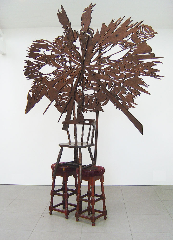 Ben Cottrell 'Nature Head III' 2008 mixed media (h.282cm x l.220cm x w.50cm), Wild Shapes, Cell Project Space