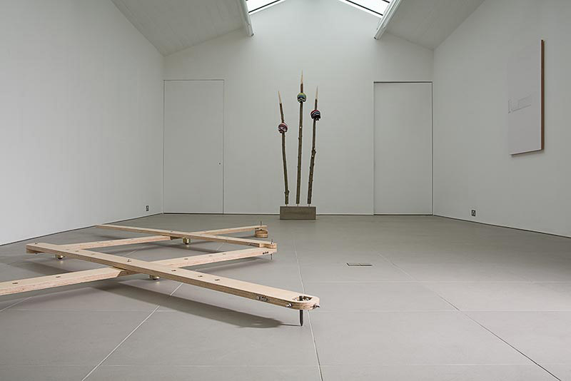 Ben Cove, Skull Weave, 2007, mixed media, Practical Mechanics, Cell Project Space