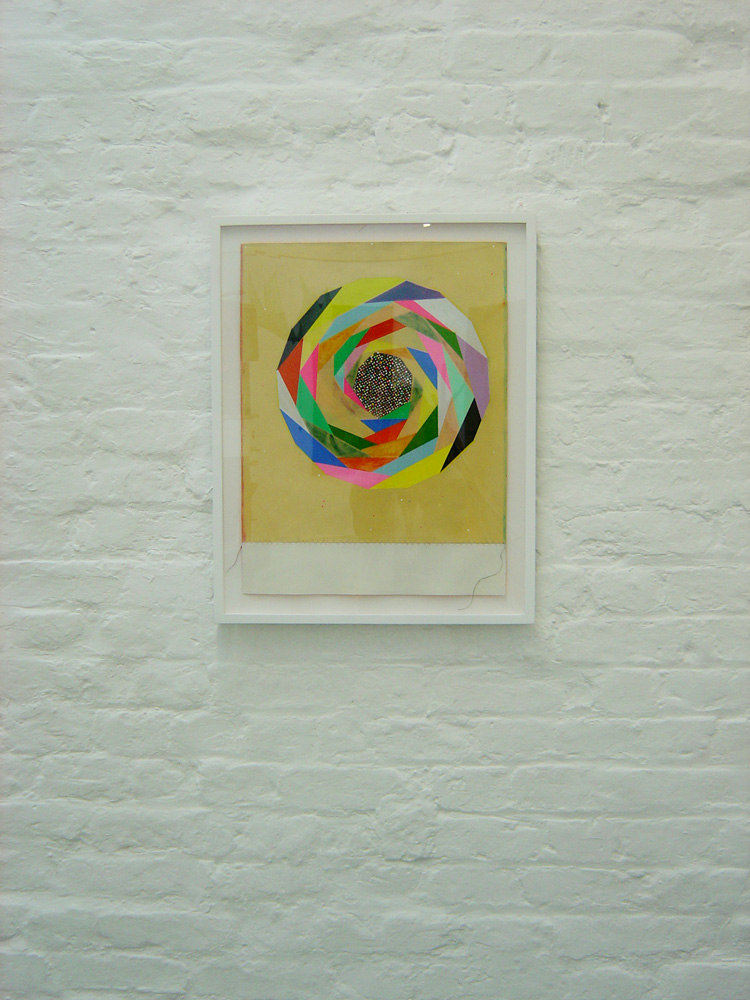 Chris Duncan 'Oh Dear, the Never Ending Spiral of Human Consumption (Myself Included)', 2007, thread, wood putty, paint, gouache, marker, graphite, colored pencil on paper, 20 x 15 in, courtesy of the Shariat Collection