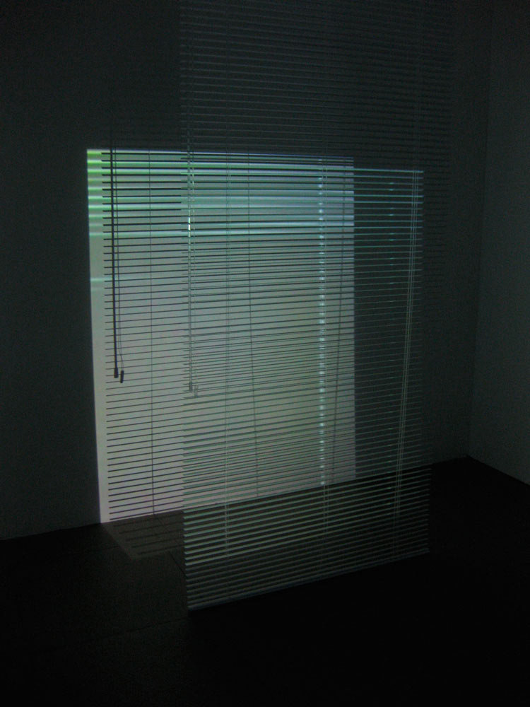 Kim Coleman & Jenny Hogarth 'Connect, (Venetian Blinds)', 2008, looped digital film on dvd, blind