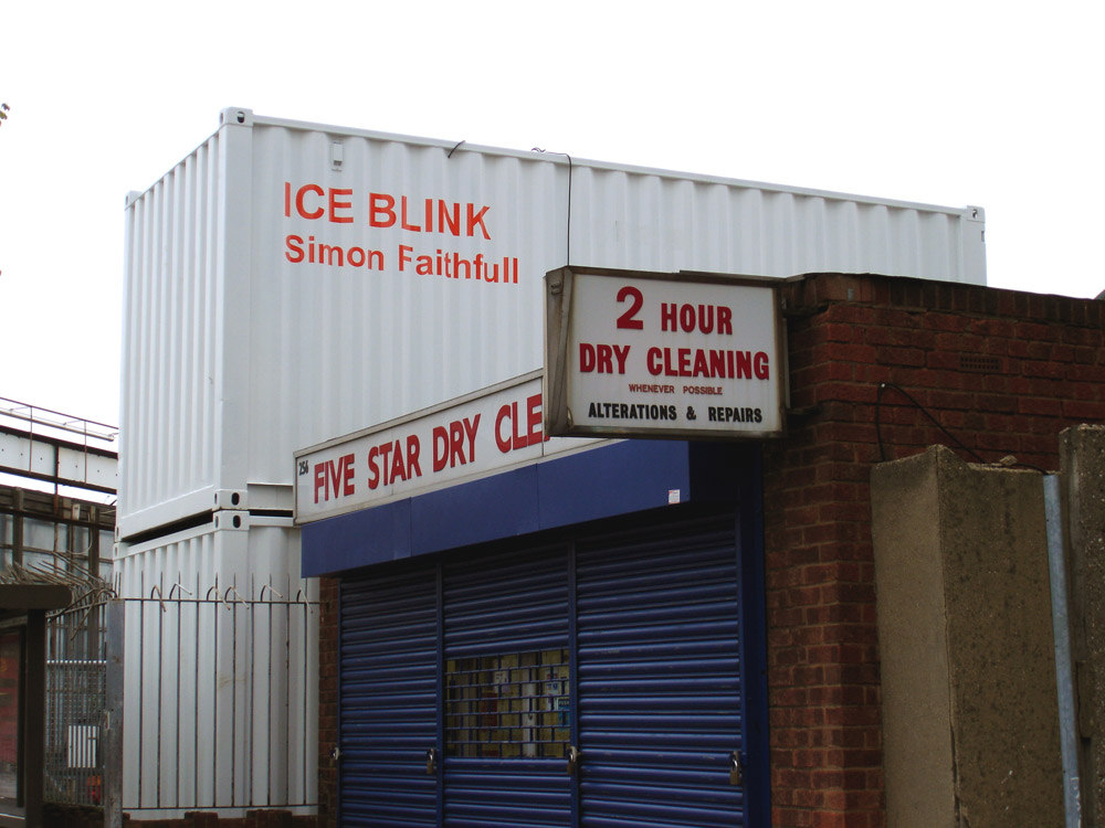 Simon Faithfull, ICE BLINK container