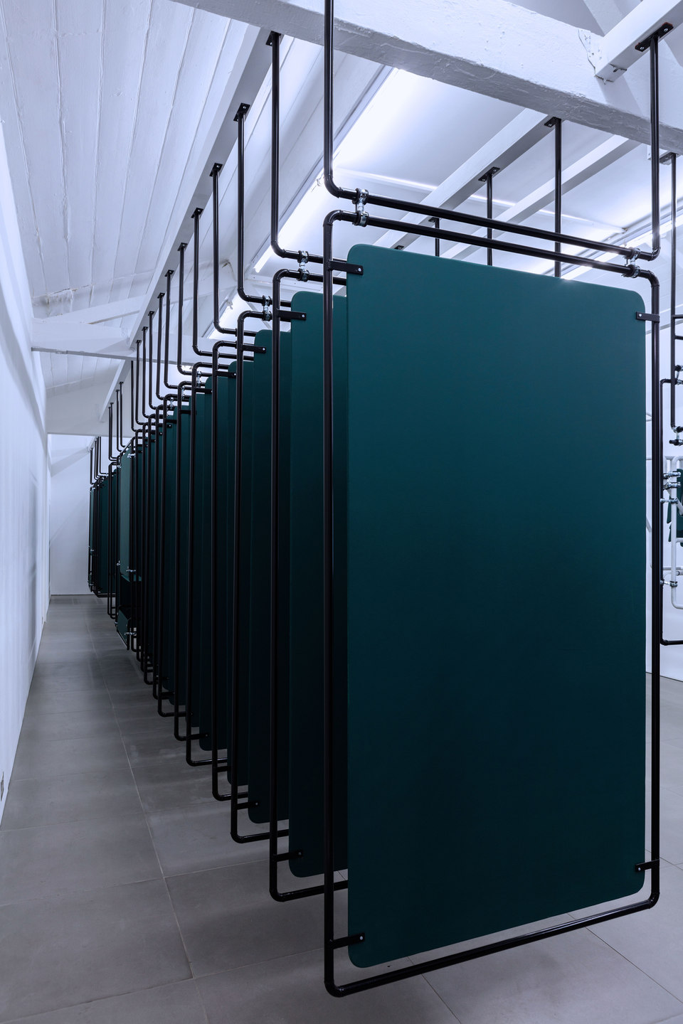 Dan Walwin, Winds 4, 2015 Mild steel powder coated, MDF, Cell Project Space