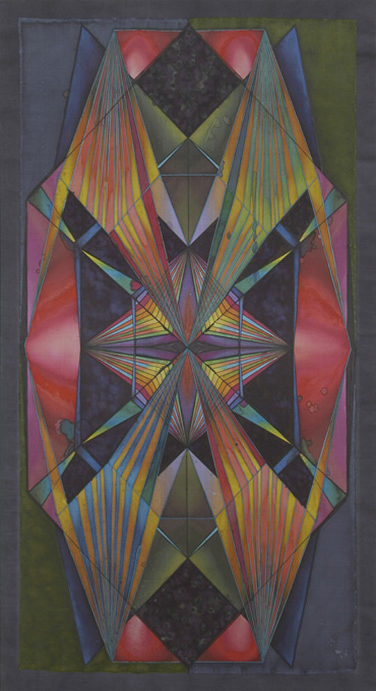 Dani Jakob 'Futurismo', 2006, silkcolour on silk on cotton