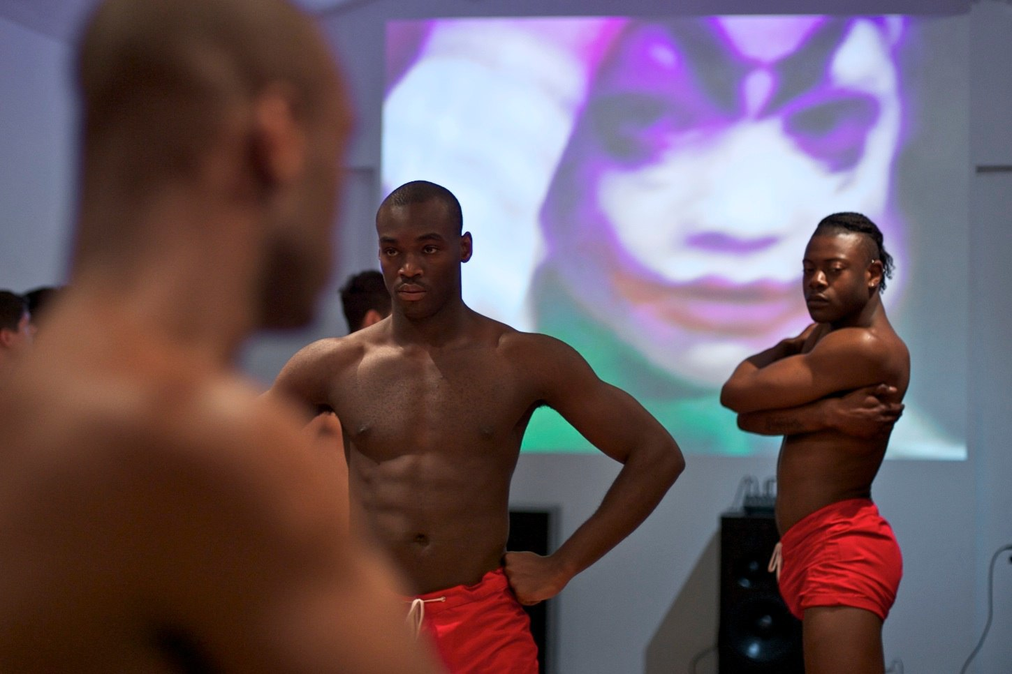 Eddie Peake, detail element of 'DEM', performance, 2012, Cell Project Space, photography by Damian Jaques