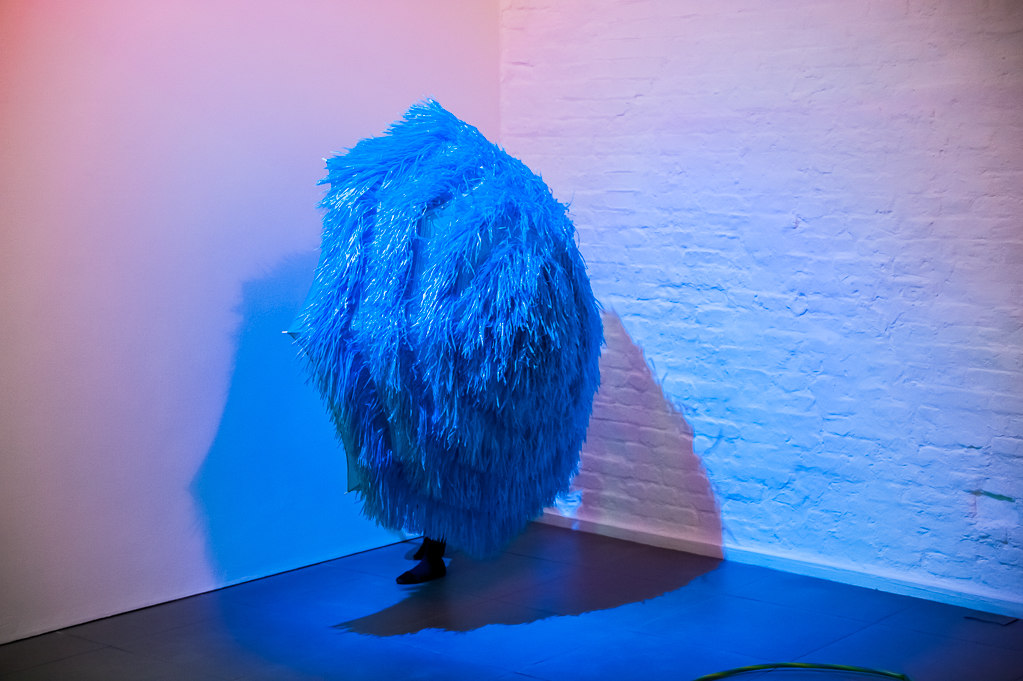 Jessica Warboys, Thunderclap, 2013, Performance at Cell Project Space, photography Damian Jaques