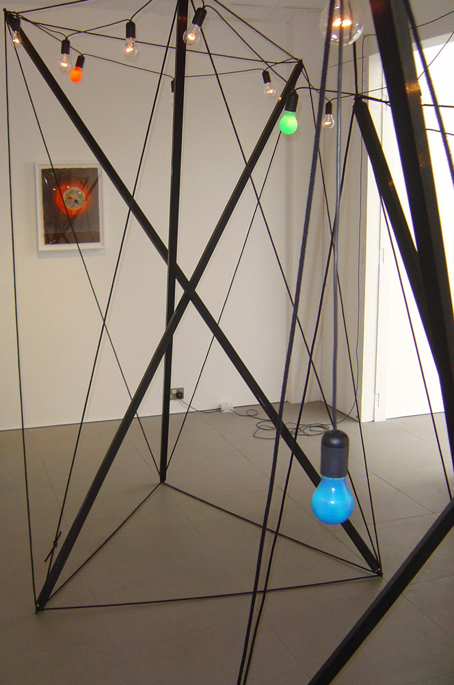 Jacob Dahl Jurgenson 'Light Sculpture', 2007, wood, gloss paint, rope, light bulbs, cable, 280 x 240 x 215 cm