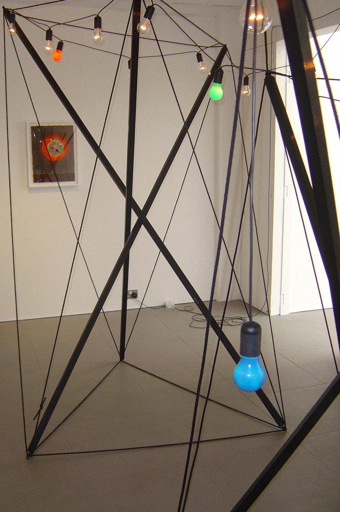 Jacob Dahl Jurgenson 'Light Sculpture', 2007, wood, gloss paint, rope, light bulbs, cable, 280 x 240 x 215 cm