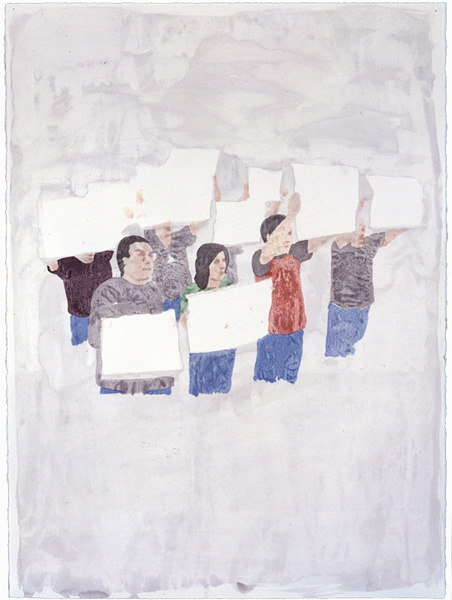 James Rielly 'We the people, we are the people', 2006, watercolour on Waterford series paper, 76.5 x 57.2 cm