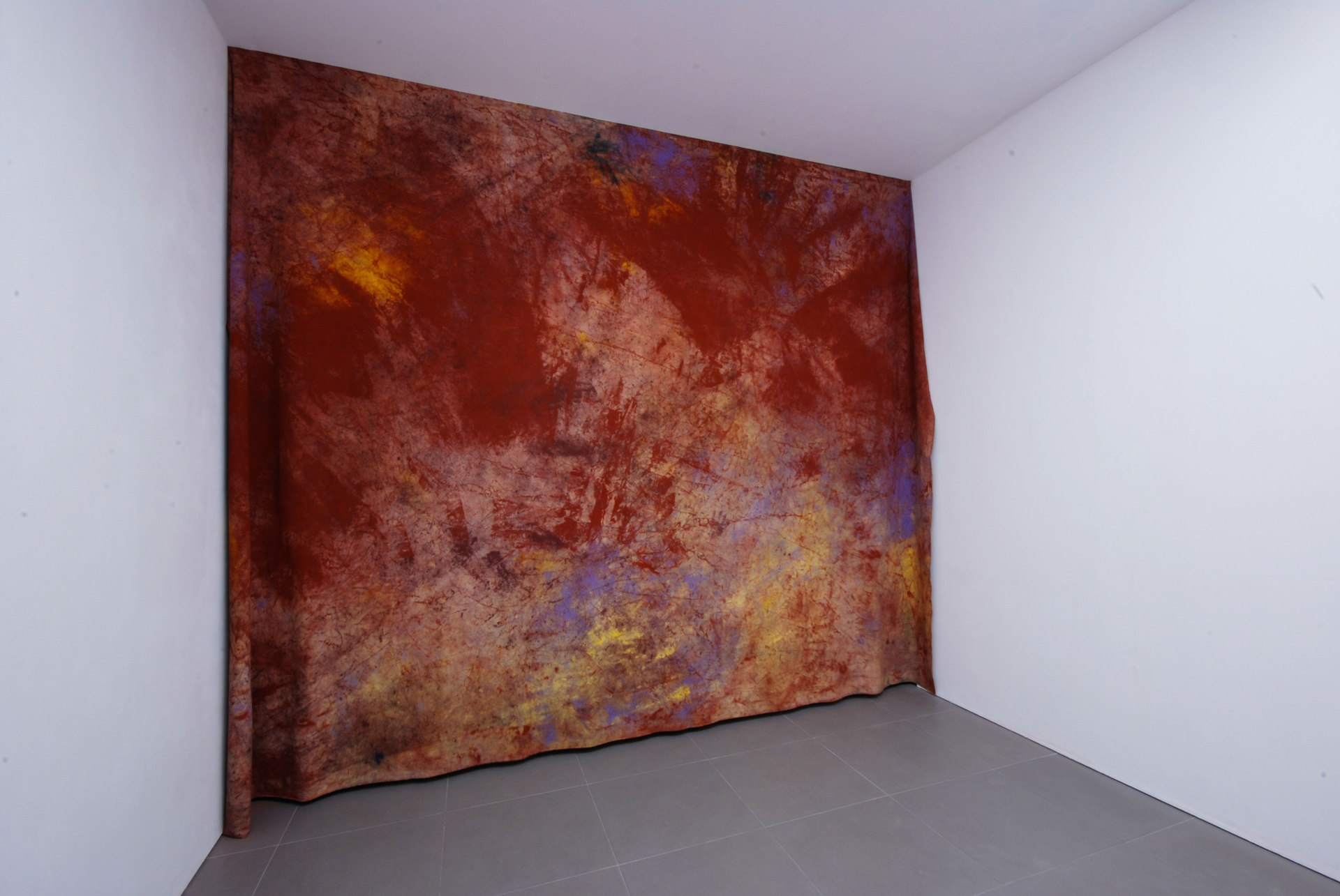 Jessica Warboys, Victory Park Tree Painting, 'Sea Painting, Dunwich', 2011, canvas, pigment, Cell Project Space