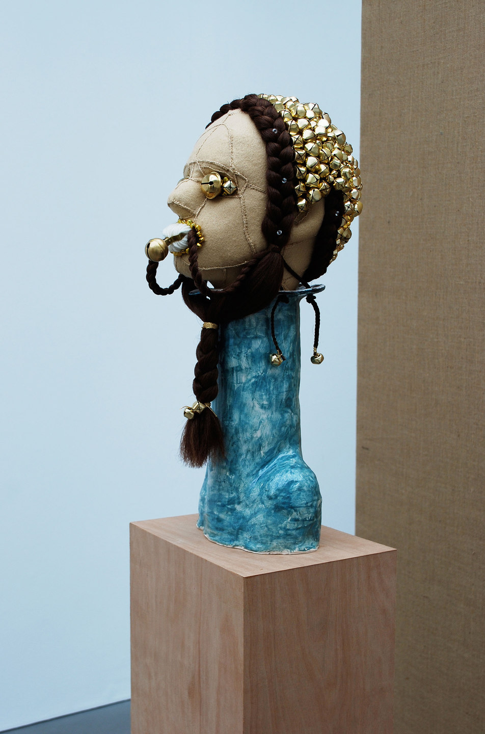Jonathan Baldock, Regality (The Fair), 2010, Felt, ceramic, bells, synthetic hair,foam, pins, wool, thread.(h.1820mm x w.230mm x d.300mm), Cell Project Space
