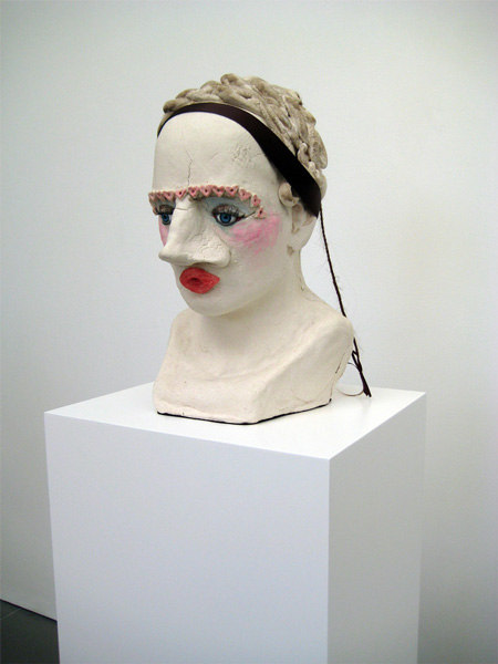 Jonathan Baldock, Betty Crocker (I Miss You)  2007  Salt-dough, pins,ribbon, dolls eyes, polystyrene, colouring, paint, synthetic hair  22 x 34 x34cm plinth 130 x 24 x 24 cm