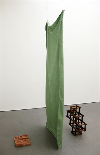 Karen Cunningham, 'My Mother was a Comptometrist' 2009, ceramic, wood, string, fabric, (dimensions variable)