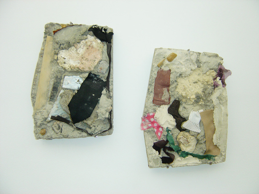 Karin Ruggaber 'Relief #12', 2006, concrete, plaster, wood, silk, felt, tweed