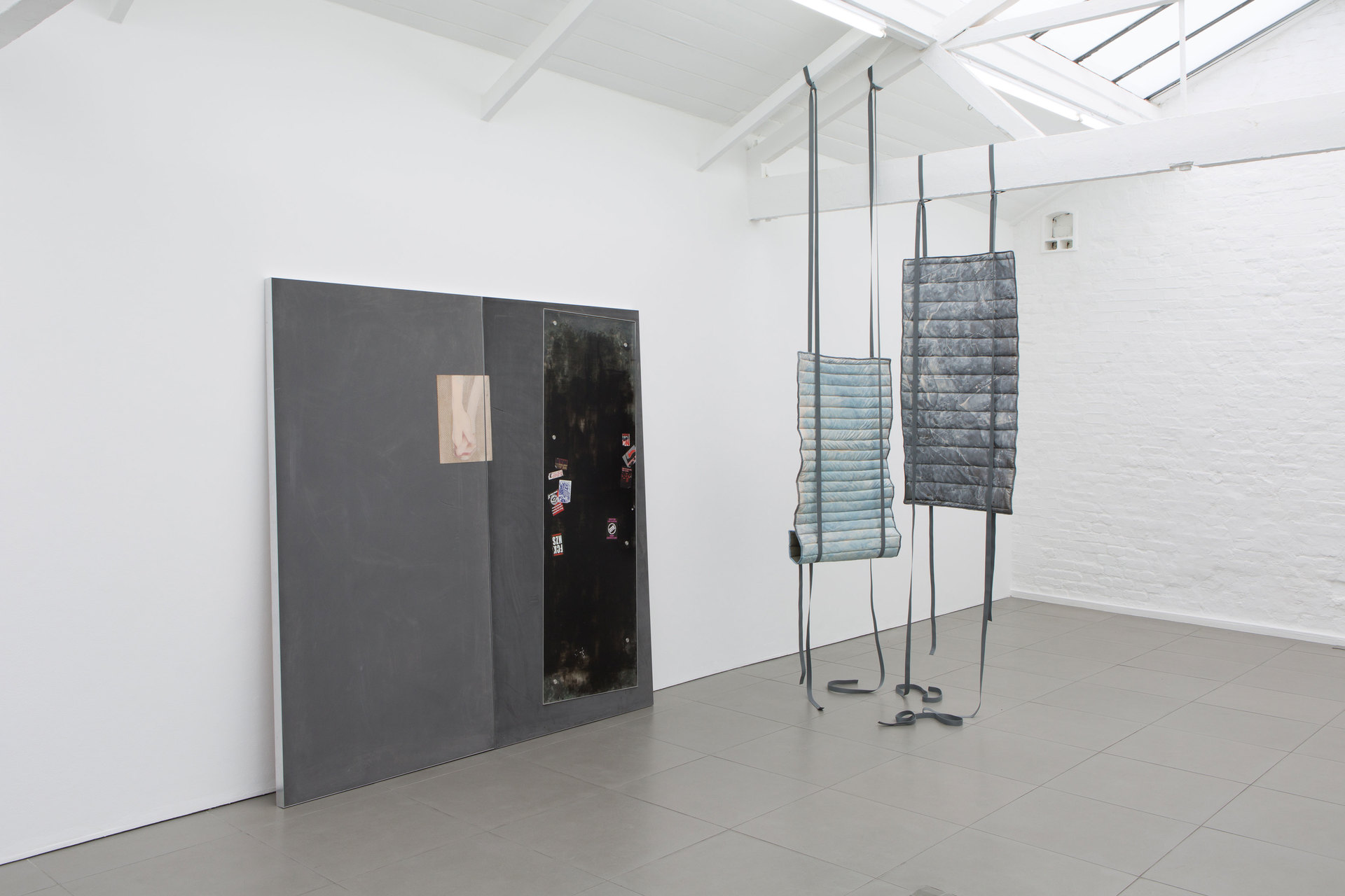 Installation view, landlords are not currently collecting rent in self-love, 2016, Cell Project Space