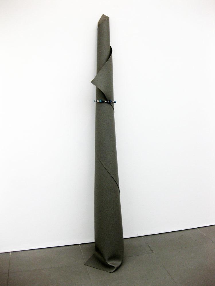 Lieke Snellen, 'Linoleum with neclace 2007', mixed media, (h.194cm x d. 38cm)