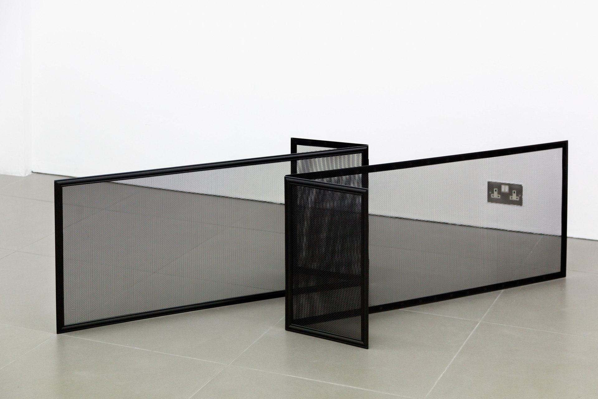 Marte Eknæs, Reboot Horizon, 'Affected Atmosphere', 2012, fireplace screens, Cell Project Space