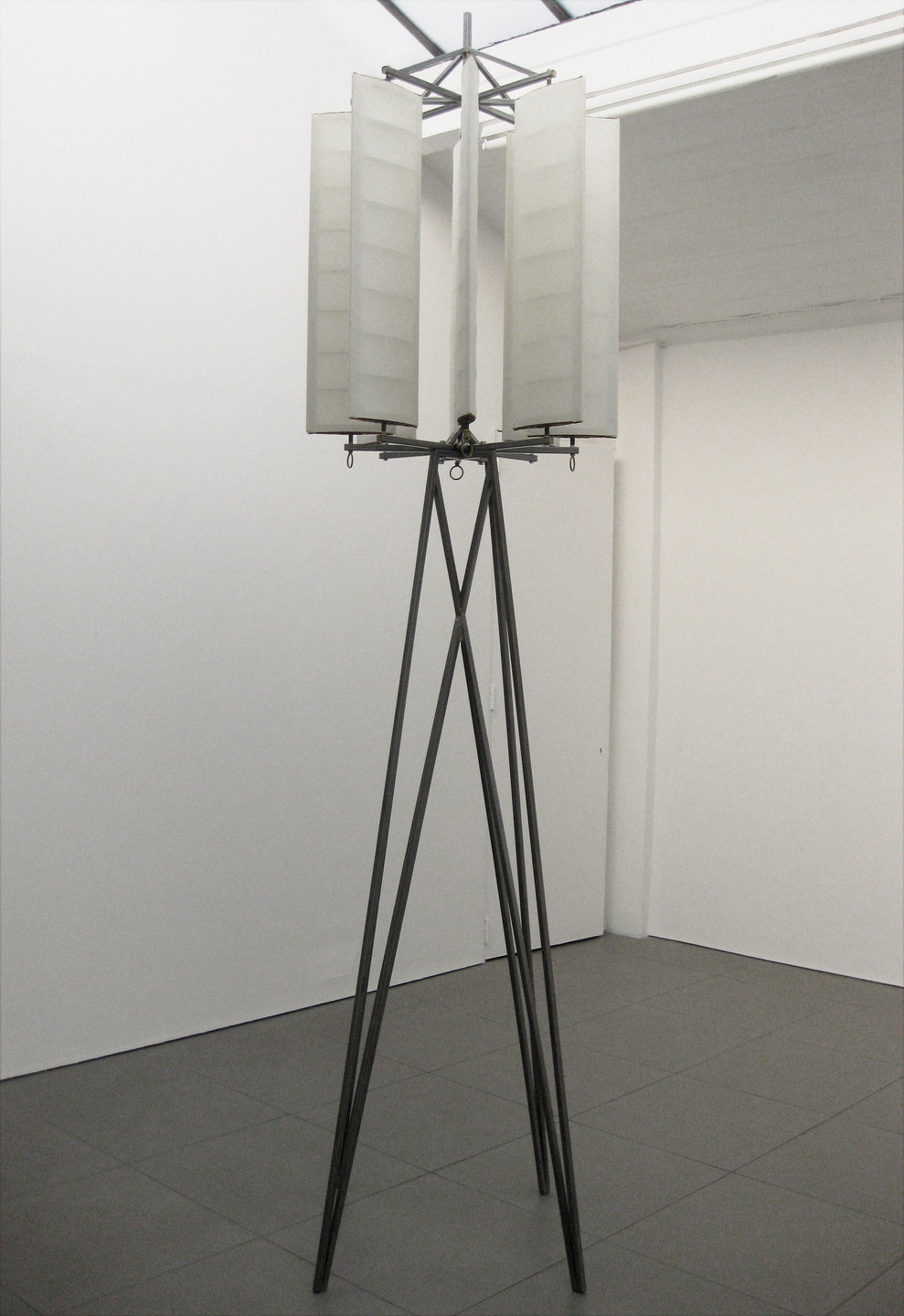 Martin Fletcher Systems House, New Tower, 2009, steel, wool, cotton fabric, leather, brass, (h.3050mm x w.650mm x d.650mm), Cell Project Space