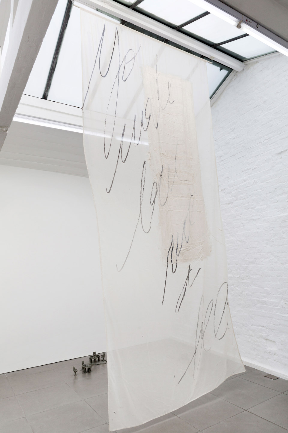 Mélanie Matranga, Emotional not sentimental, 2013, silicone silkscreen on cotton, dimensions variable, Cell Project Space