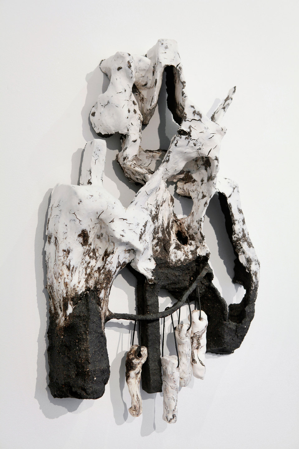 Peles Empire, Formation, 'formation 11', 2013, unglazed porcelain with black grog, h. 64 x w. 36 x d. 15 cm, Cell Project Space