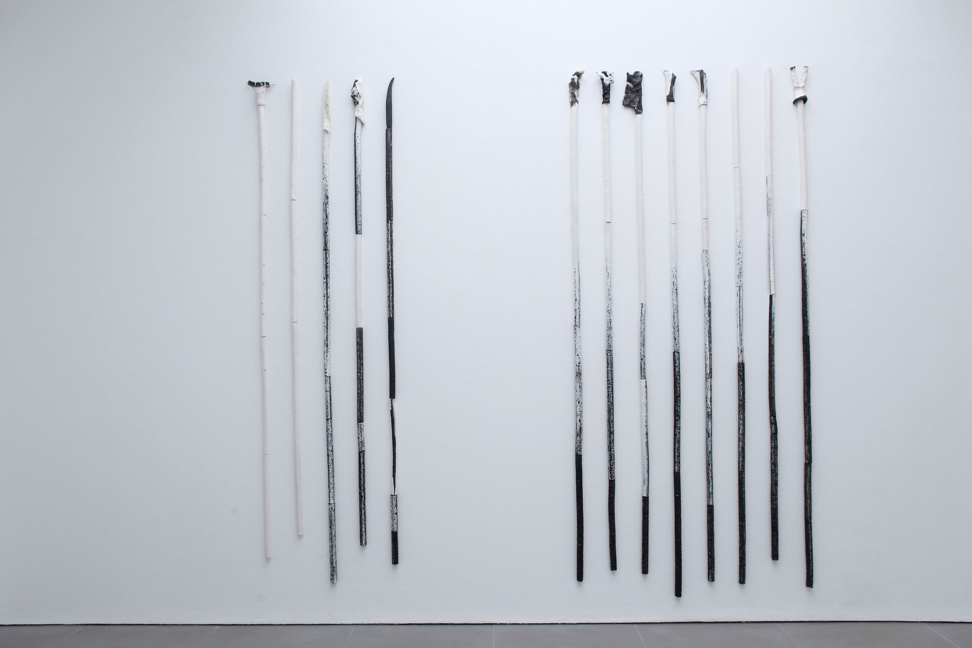 Peles Empire, Formation, 'formation 9', 'formation 10', 2013, unglazed porcelain with black grog, Cell Project Space