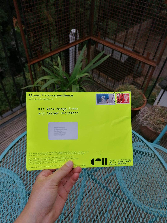 Alex Margo Arden & Caspar Heinemann, Queer Correspondence #1, 2020, Cell Project Space