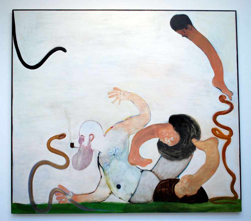 Ryan Mosley 'Teaching Snakes to be Snakes', 2008, 190 x 170 cm, oil on canvas