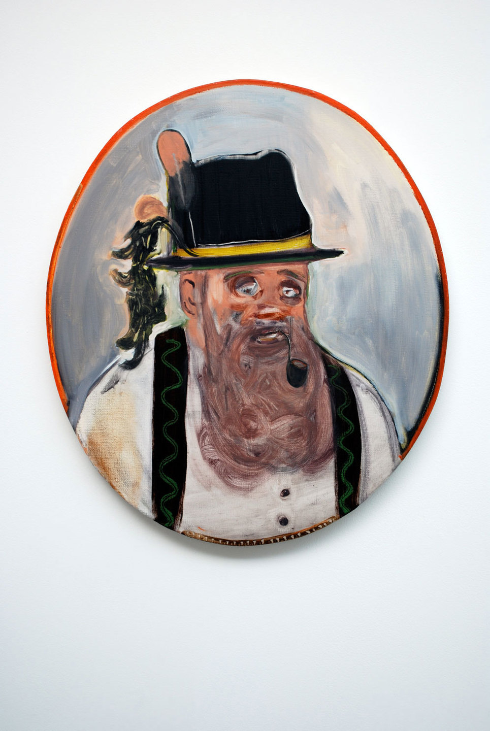Ryan Mosley 'Tyrolean Man', 2008, 61 x 70 cm, oil on linen
