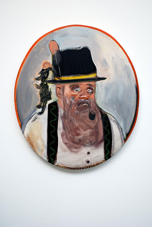 Ryan Mosley 'Tyrolean Man', 2008, 61 x 70 cm, oil on linen