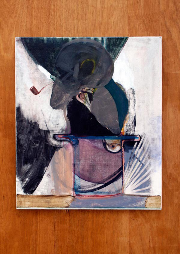 Ryan Mosley 'Still Life, Man Smoking A Pipe', 2008, 55 x 65 cm, oil on linen