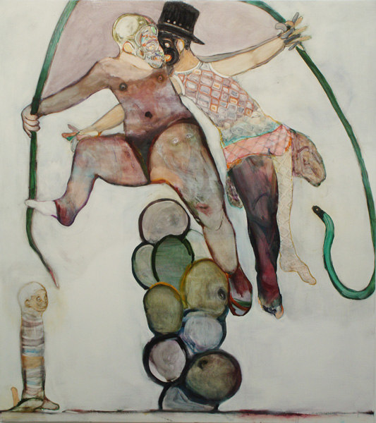 Ryan Mosley, Carnival, 2007, Oil on linen, 200 x 110 cm, Cell Project Space