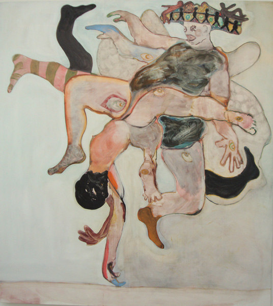 Ryan Mosley, Empress Butterfly, 2007, Oil on linen, 200 x 180 cm, Cell Project Space