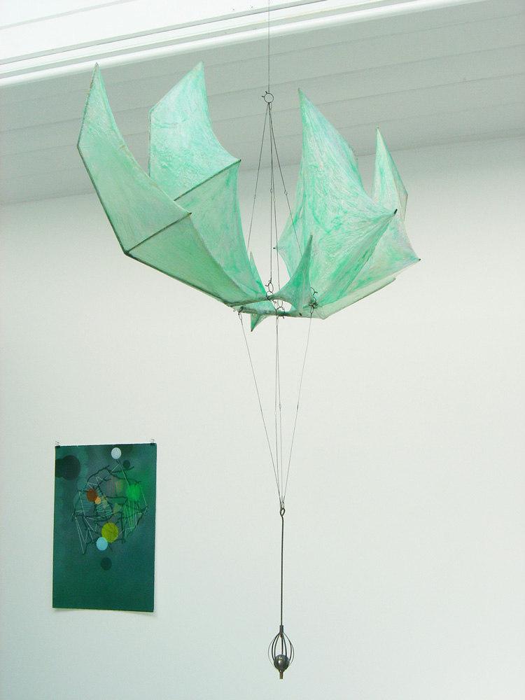 Sam Basu 'Dragon hexagram', 2007, metal wire, resin